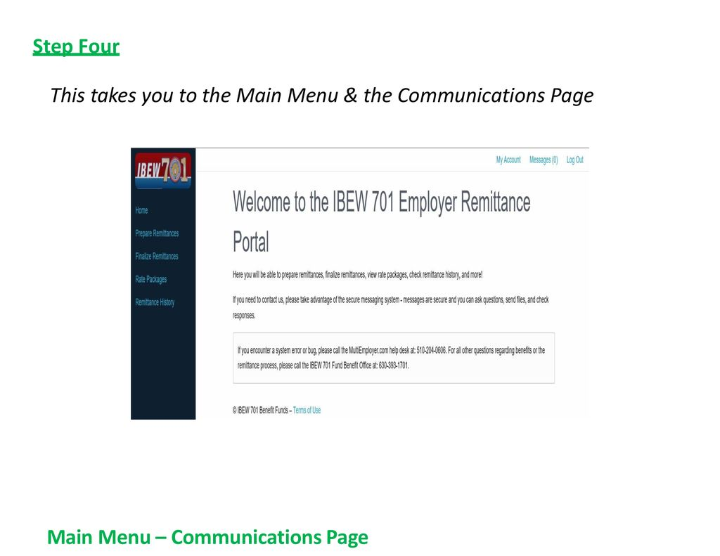 IBEW Local 701 Employer Monthly Electronic Remittance