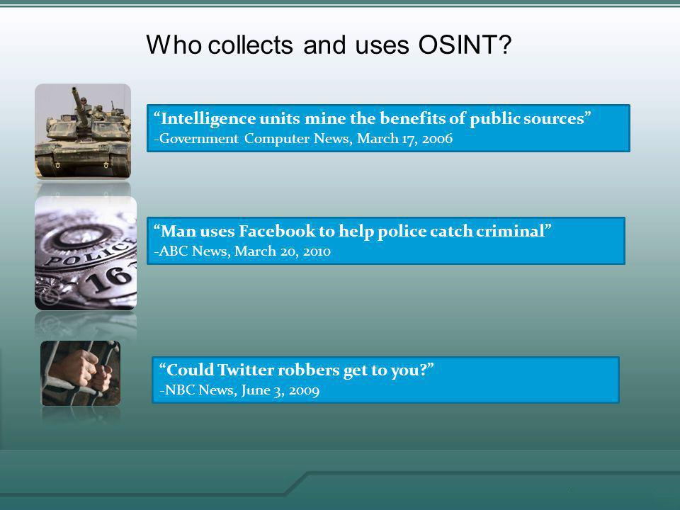 Open Source Intelligence (OSINT) - ppt video online download