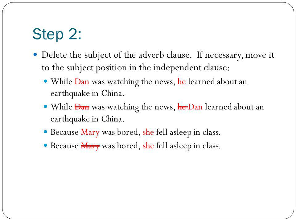 complete adverb clause