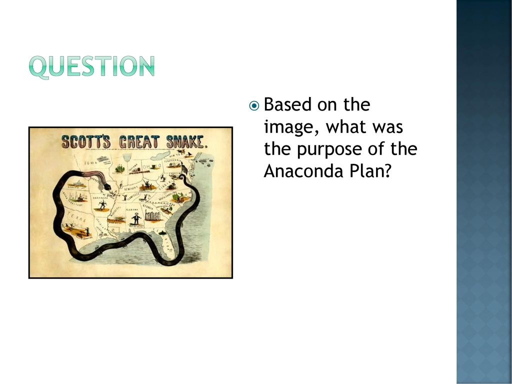 what was the purpose of the anaconda plan