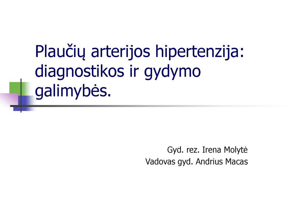 hipertenzijos klinikoje standartas