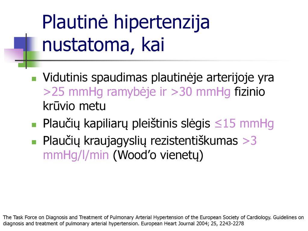 plaučiai ir hipertenzija