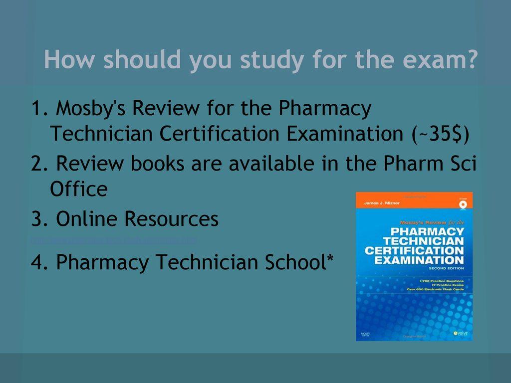 Week 1 General Meeting Pharmacy Technician Certification Exam Ptce