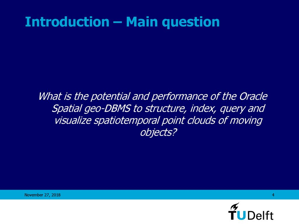 Moving objects in a geo-DBMS - ppt download