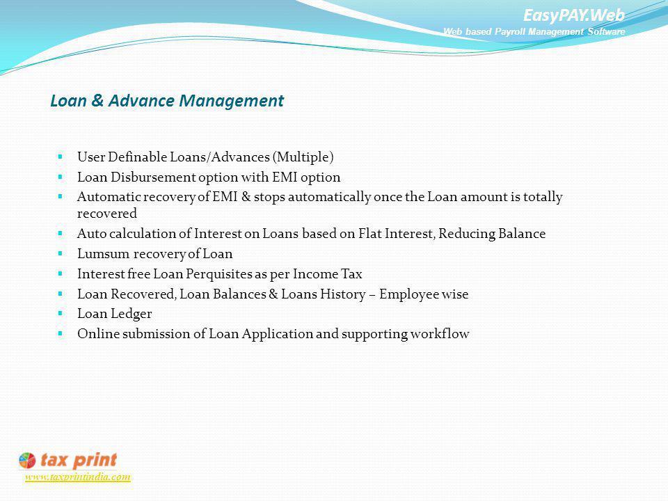 EasyPAY Web Web based Payroll Management Software  - ppt