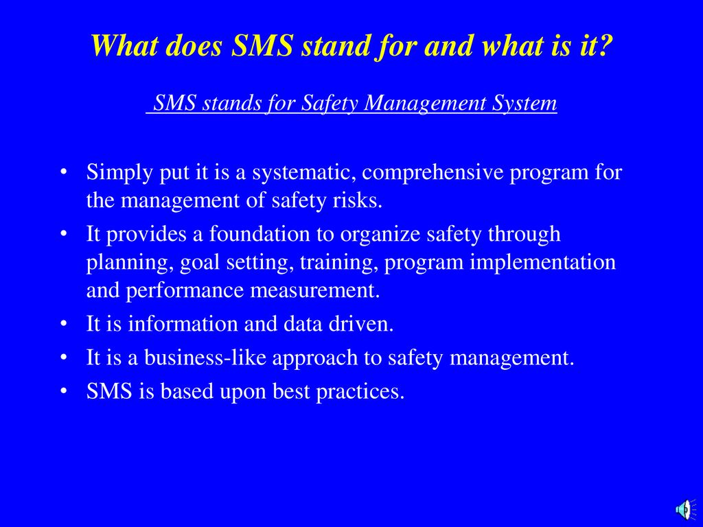 What Does Sms Stand For >> Safety Meeting 5 December Ppt Download