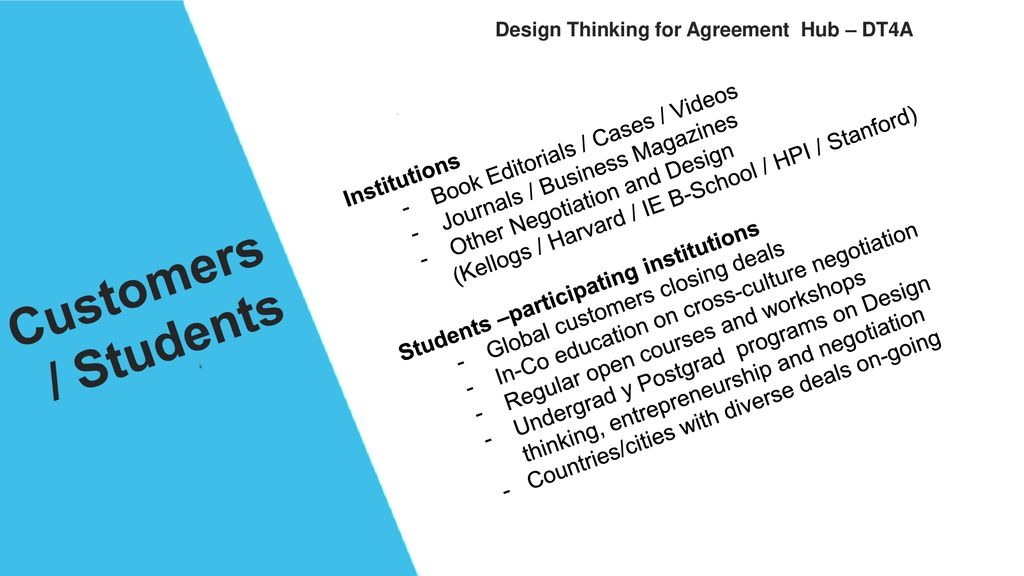 Design Thinking for Agreement - ppt download