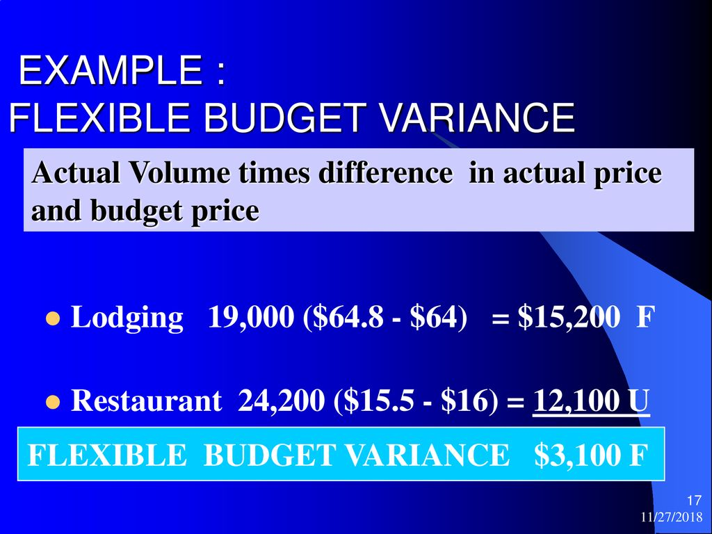 FLEXIBLE BUDGETS AND VARIANCE ANALYSIS - ppt download
