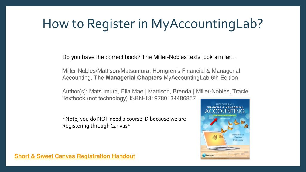 How To Register In MyAccountingLab Ppt Download