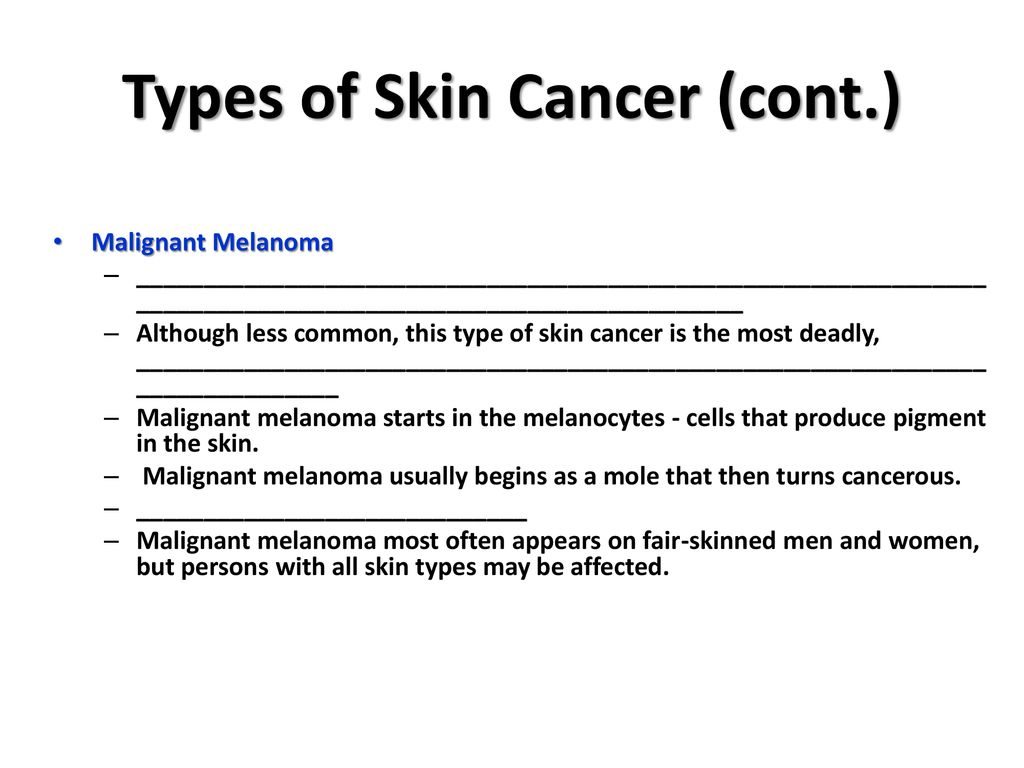 I Can Identify Various Skin Cancers Ppt Download