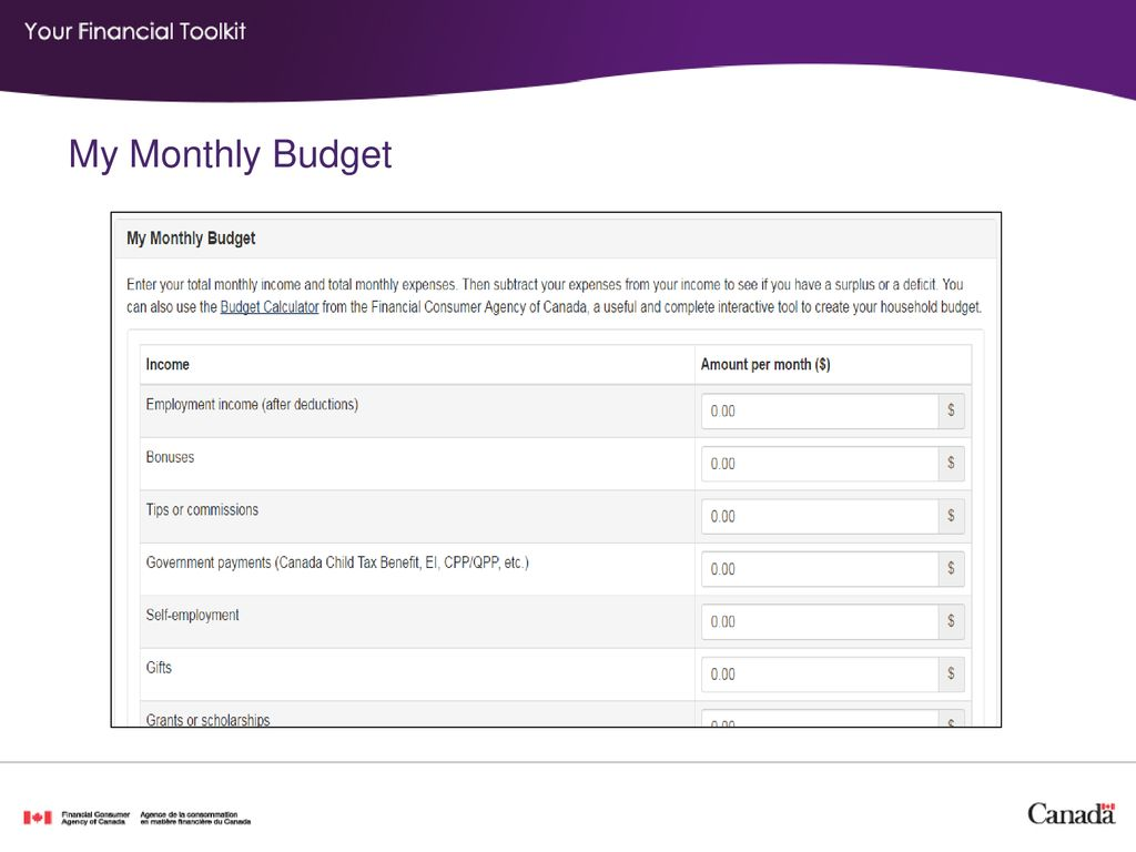 income expenses and budget ppt download