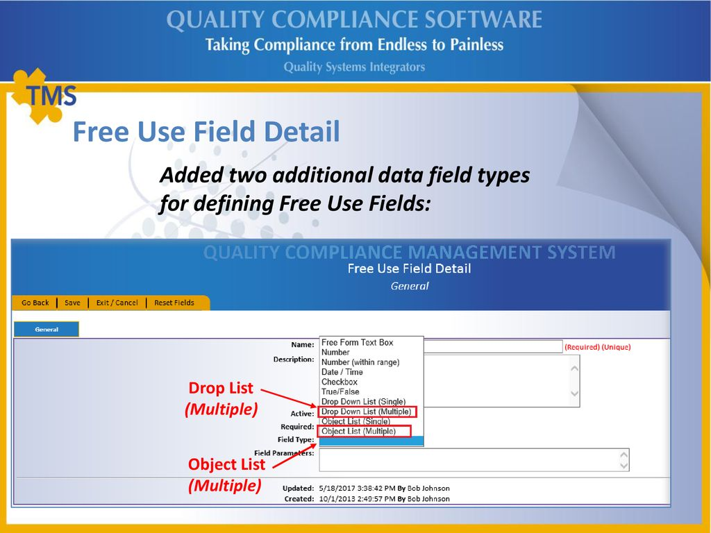 TMS Quality Compliance Software - ppt download