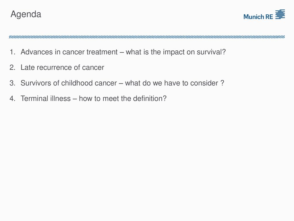 cancer – advances in treatment and the impact on underwriting and