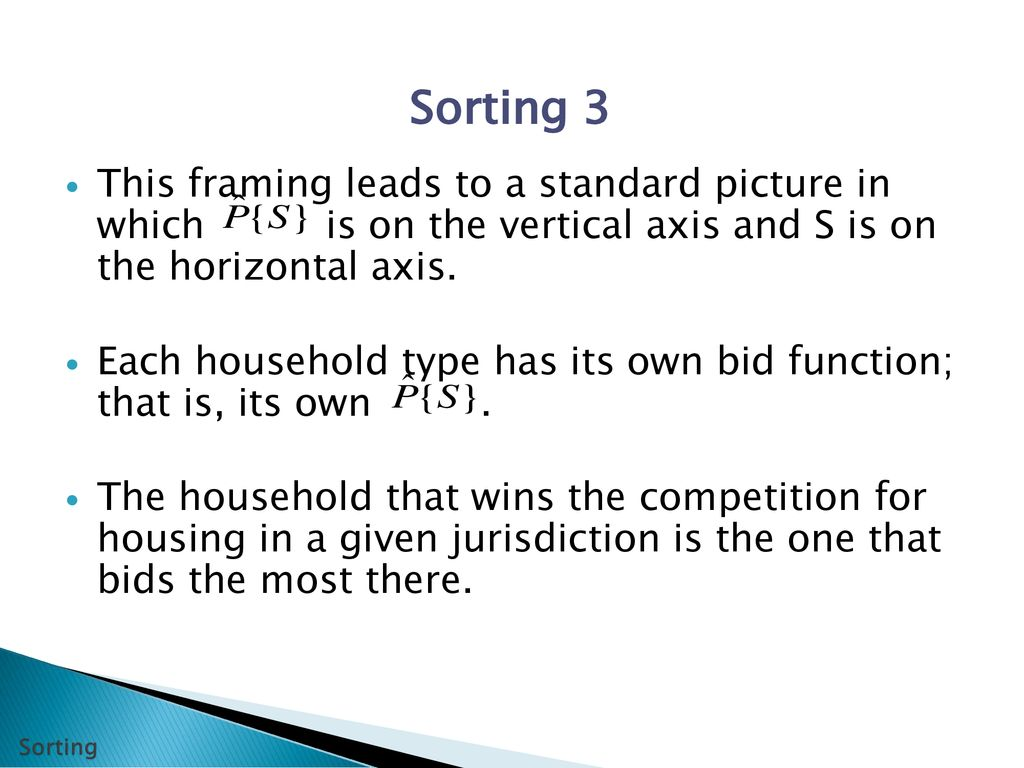 lecture 1 bidding and sorting the theory of local public finance
