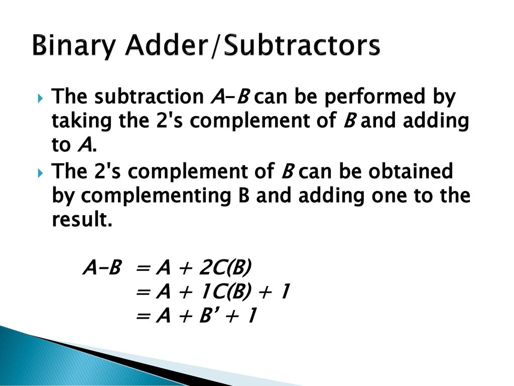 Half Adder Full Subtractor Ppt Download Electric Truth Table 4 Bit Binary Part 1 16 Subtractors