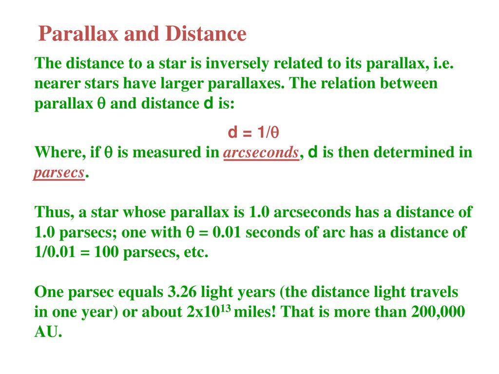 Stellar distances  - ppt download