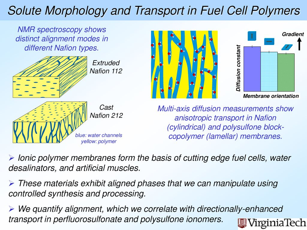 Solute Morphology and Transport in Fuel Cell Polymers - ppt
