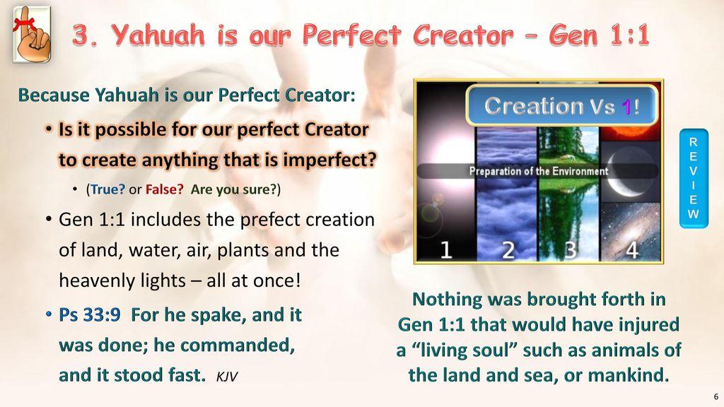 The Creation Week (Part 2) Gen 1:5 - Gen 2:3 (Days 1-7