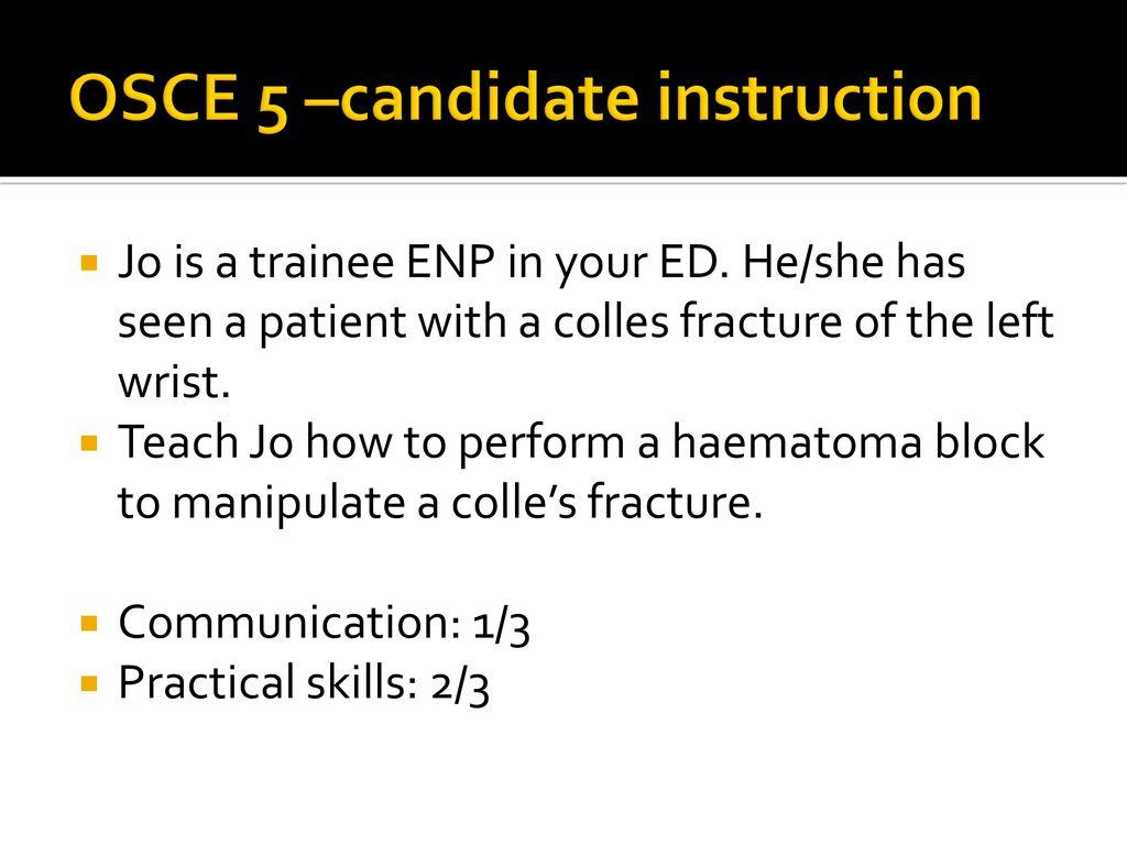 Yasmin Sultan FRCEM OSCE practice 21/9/ ppt download