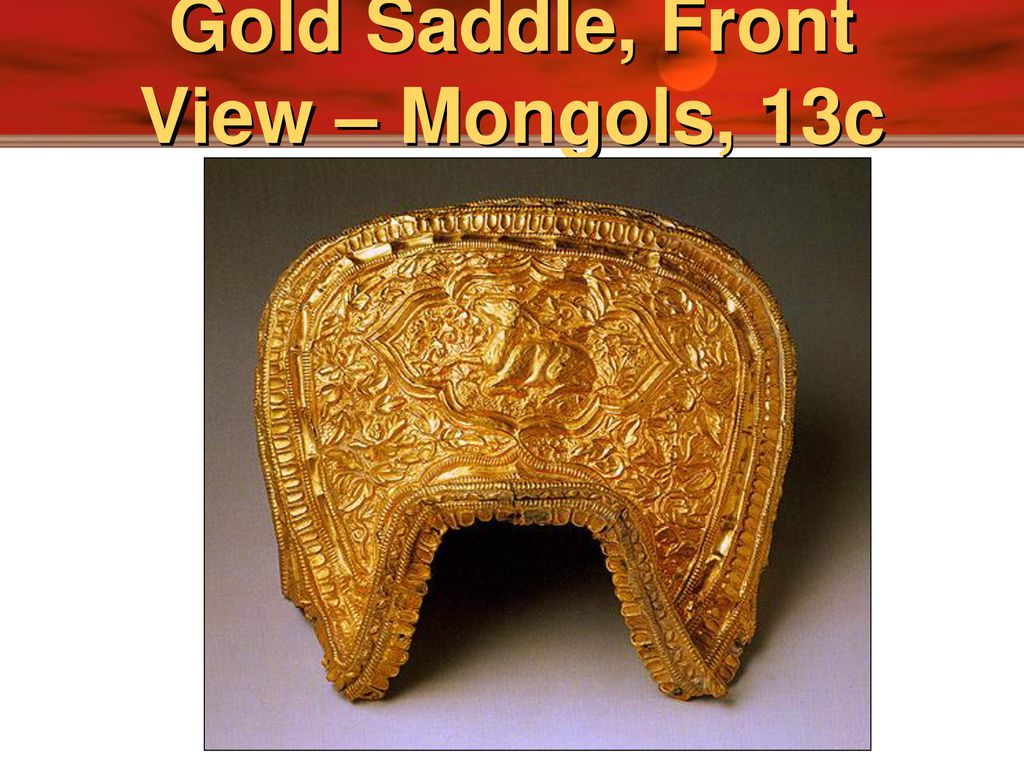 Gold+Saddle,+Front+View+%E2%80%93+Mongol
