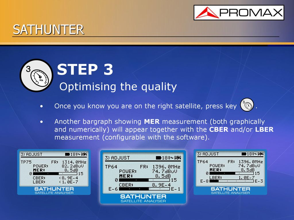 SATHUNTER Satellite pointing made easy DVB-S2 DVB-S  - ppt download
