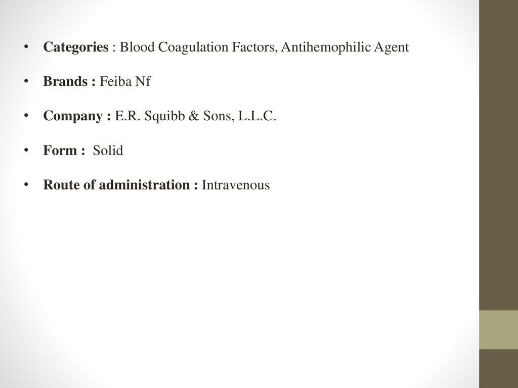 Anti-inhibitor coagulant complex - ppt download