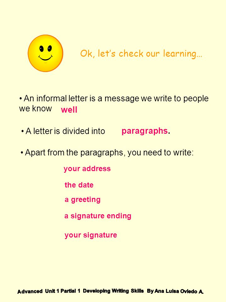 Writing an informal letter ppt video online download 7 ok expocarfo Choice Image