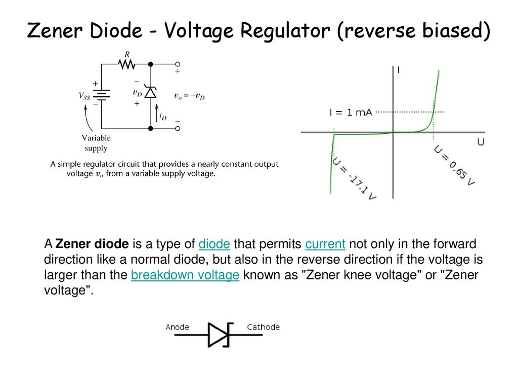 Diode Circuits Ppt Download This Circuit Would Work So Much Better Than The Simple Zener Regulator 17 Voltage