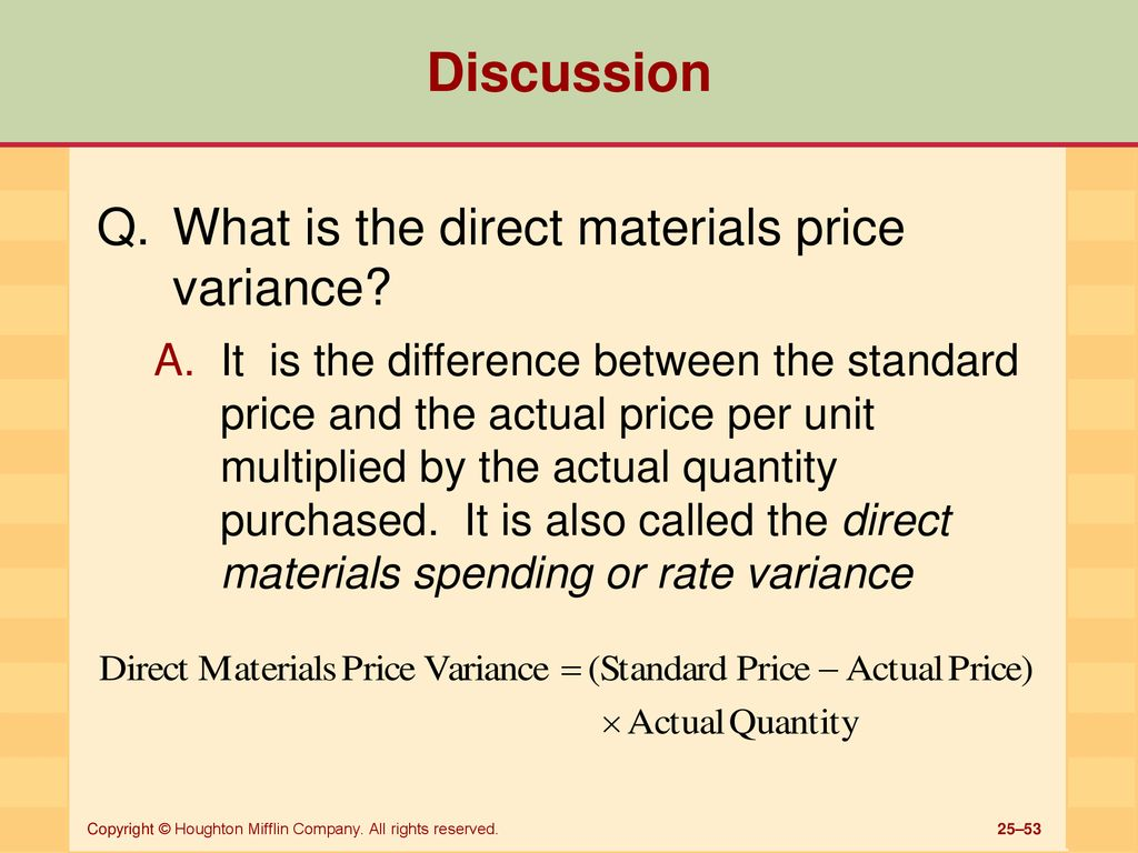 Standard Costing And Variance Analysis Ppt Download