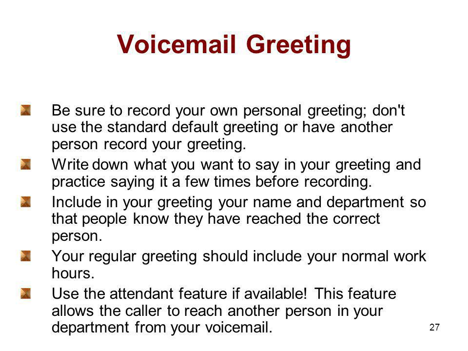 Facilitator mae martin ppt download voicemail greeting be sure to record your own personal greeting don t use the standard m4hsunfo