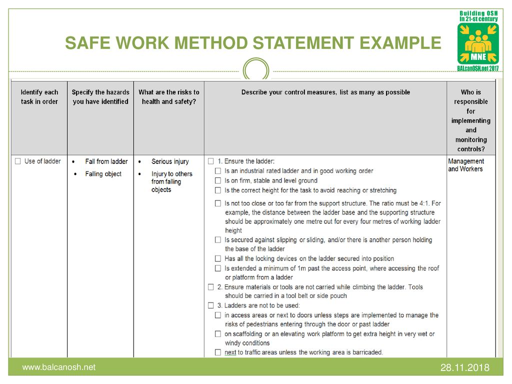 RISK ASSESSMENT AND METHOD STATEMENT - ppt download