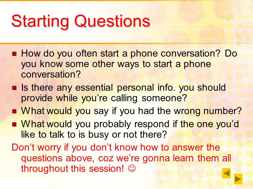 Telephone Conversation - ppt video online download