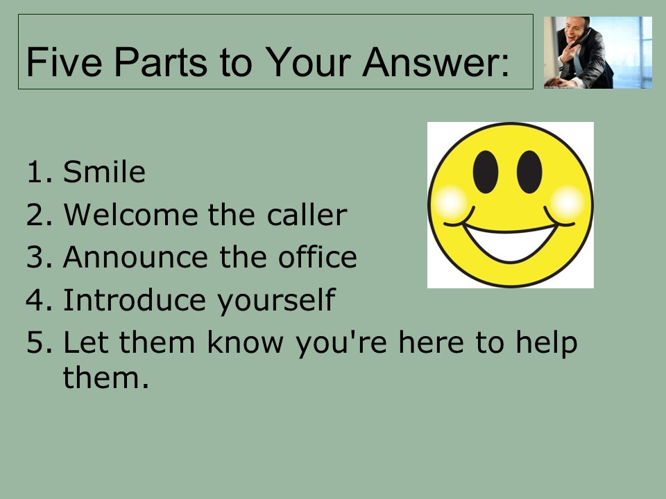 Five Parts to Your Answer: