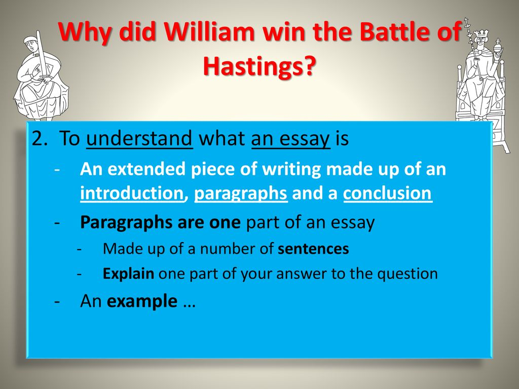Essay Papers Examples Why Did William Win The Battle Of Hastings Abraham Lincoln Essay Paper also Sample Thesis Essay Why Did William Win The Battle Of Hastings  Ppt Download Thesis Statement Analytical Essay