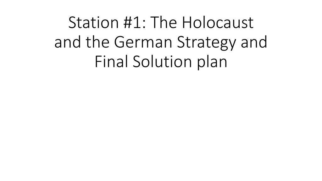The Holocaust Definition of The Holocaust The State