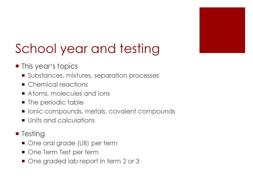 Year 9 chemistry  - ppt download