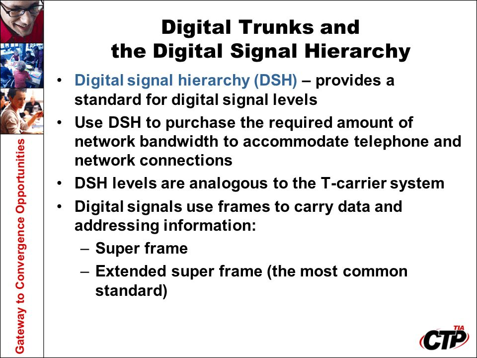 Digital Trunks and the Digital Signal Hierarchy