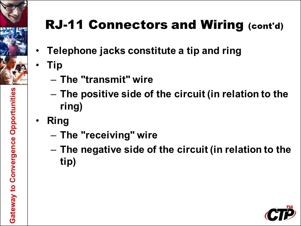 RJ-11 Connectors and Wiring (cont d)