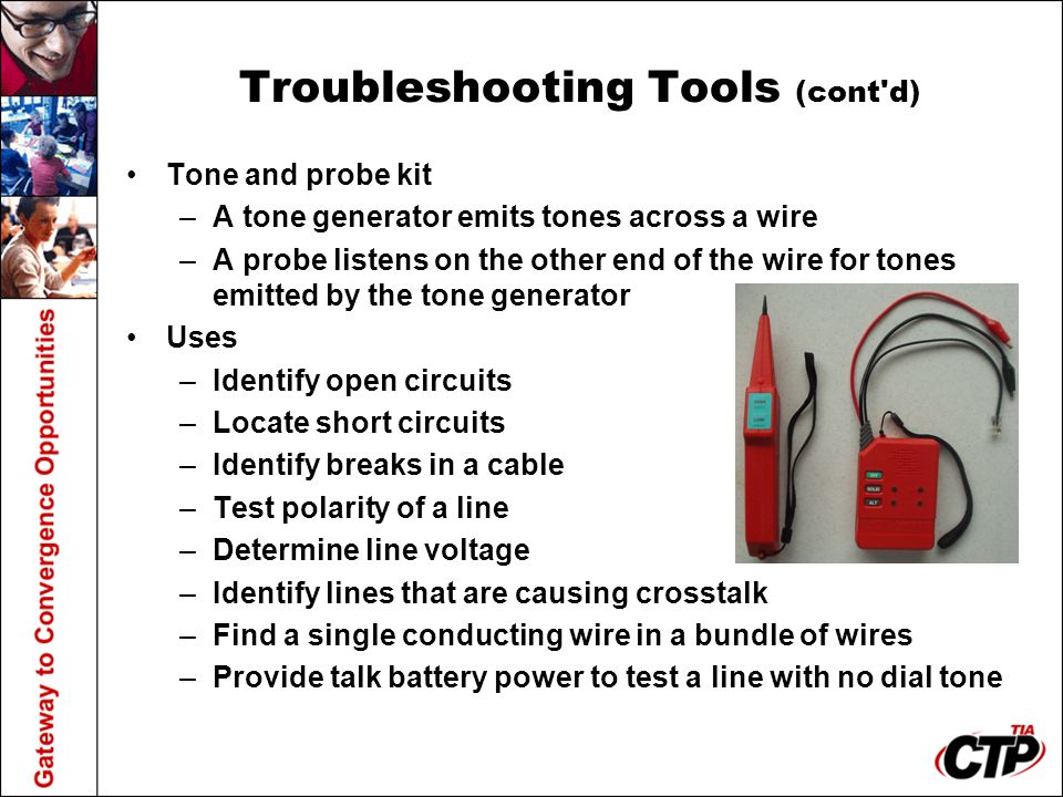 Troubleshooting Tools (cont d)