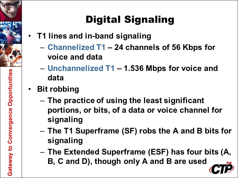 Digital Signaling T1 lines and in-band signaling