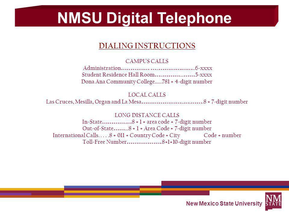 NMSU Digital Telephone - ppt download
