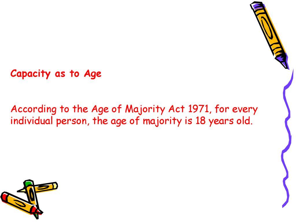 age of majority act 1971