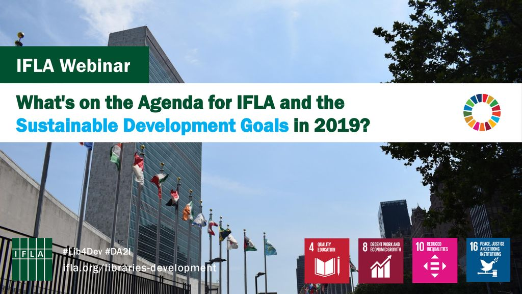 IFLA Webinar What's on the Agenda for IFLA and the Sustainable
