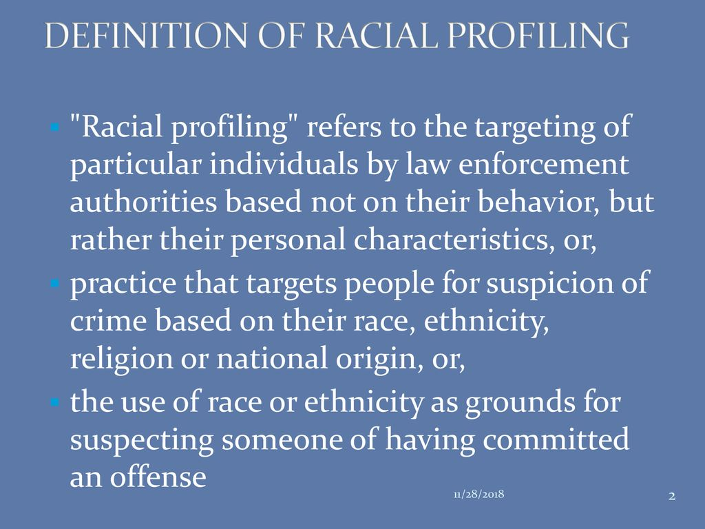 youth at risk: racial profiling - ppt download