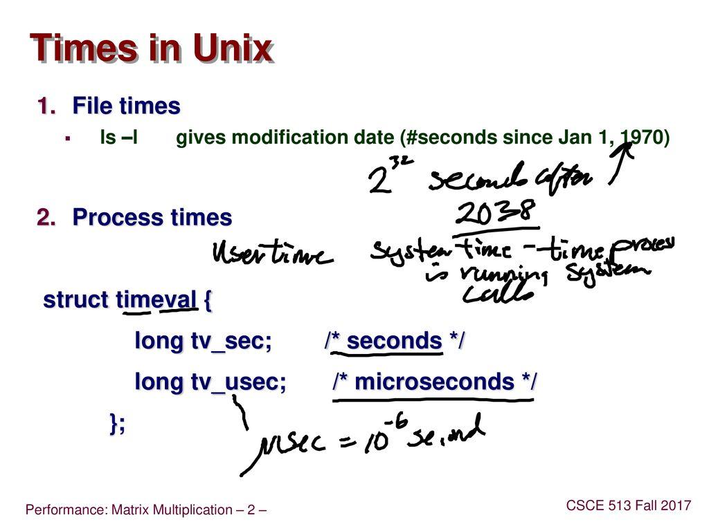 Measuring Program Performance Matrix Multiply - ppt download