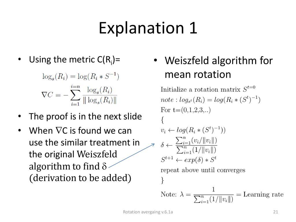 Rotation averaging KH Wong Rotation avergaing v 6 1a  - ppt