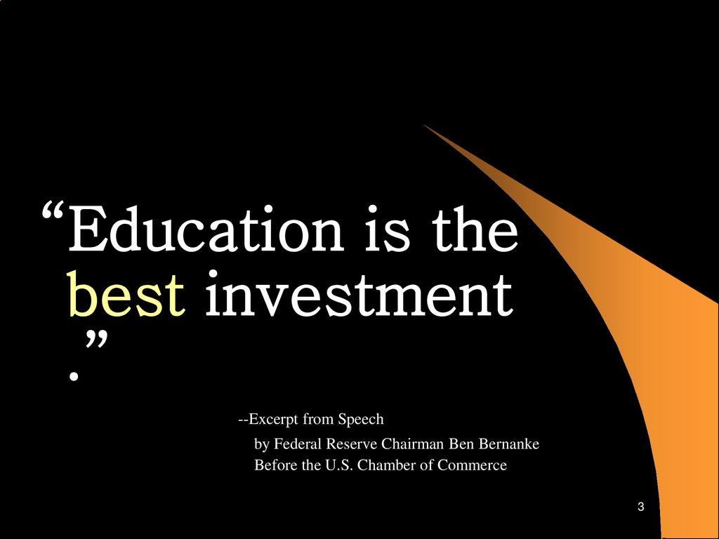 education is the best investment speech