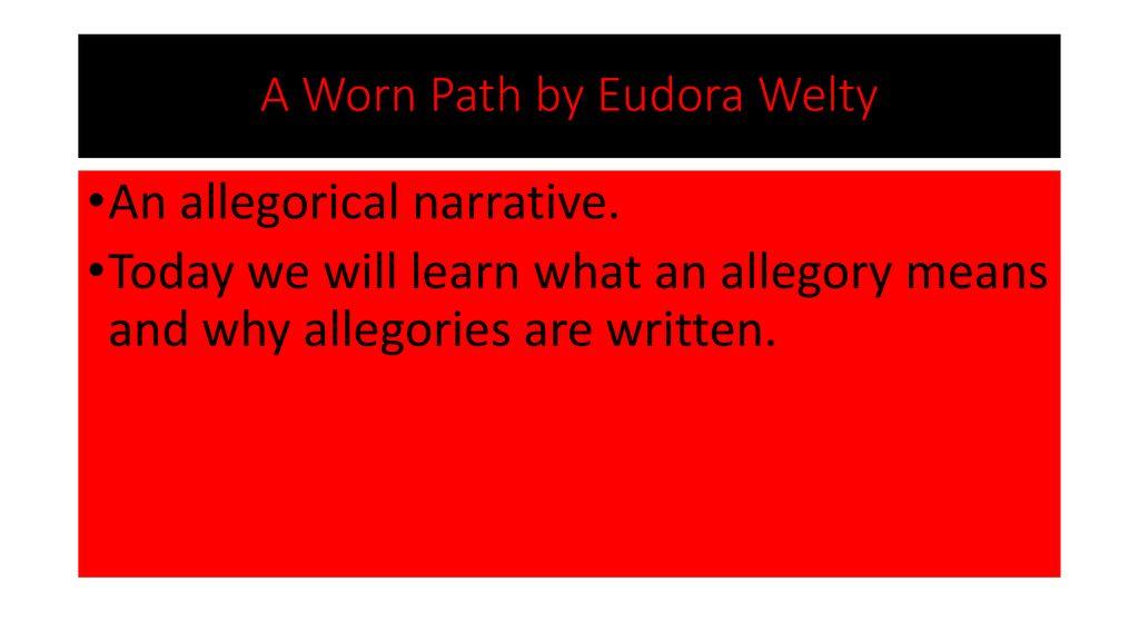 a worn path scarecrow symbolism