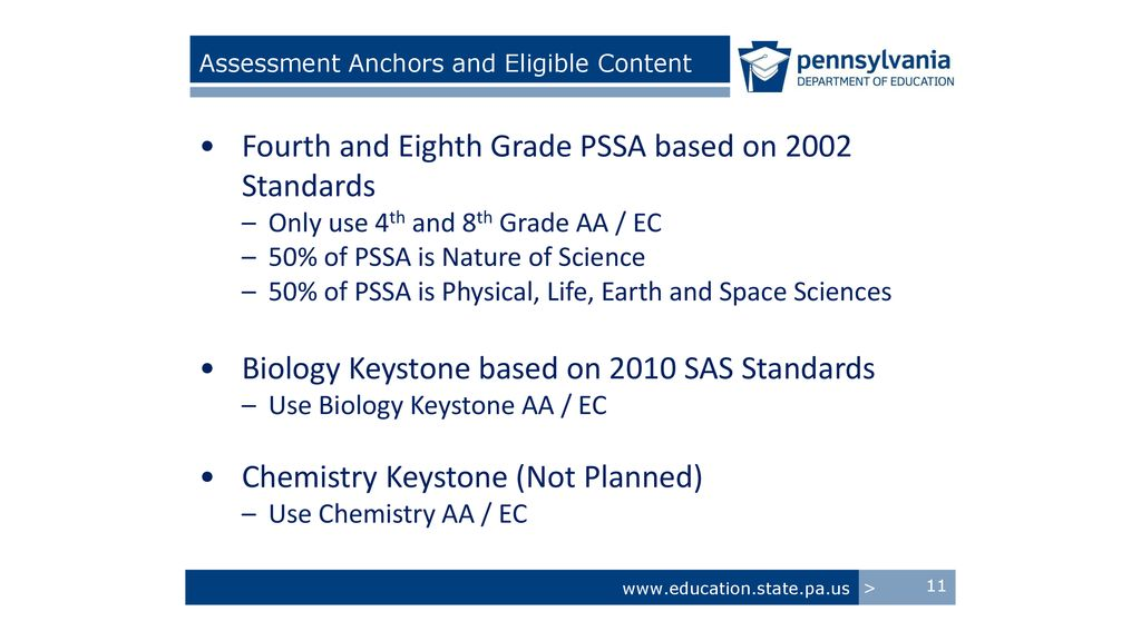 Direction Of Science Education In Pennsylvania PAIUCC