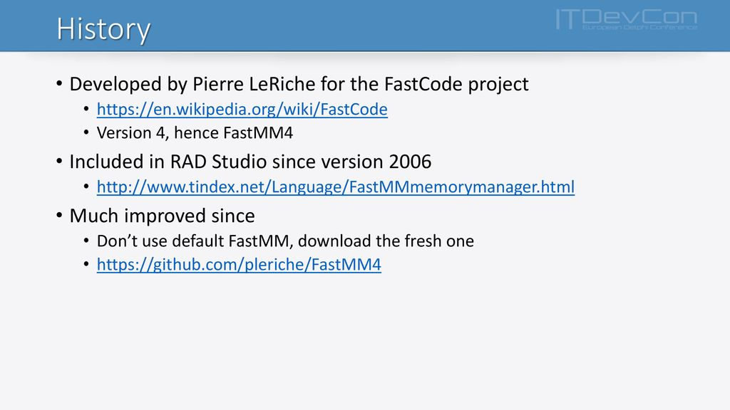 How I Learned to Love FastMM Internals - ppt download